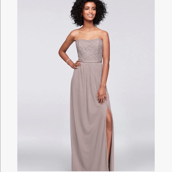 David's Bridal Dresses & Skirts - Lace and Mesh Strapless Dress